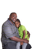 A grandfather and his granddaughter Stock Image