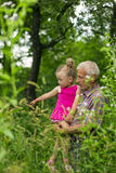 Grandfather with his granddaughter Stock Image