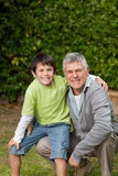 Grandfather with his grandson Stock Photos