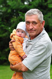Grandfather with his grandson Royalty Free Stock Photography