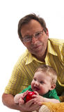 Grandfather and his grandson Stock Photography