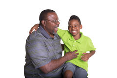 A grandfather and his grandson Royalty Free Stock Image