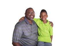 A grandfather and his grandson Royalty Free Stock Photography