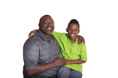 A grandfather and his grandson Stock Photo
