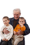 Grandfather with his grandsons Royalty Free Stock Photography