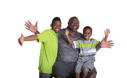 A grandfather and his grandsons Royalty Free Stock Images