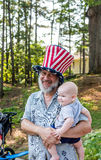 Grandfather on July 4th Royalty Free Stock Images