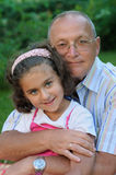 Grandfather and kid Royalty Free Stock Images