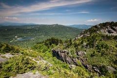 Grandfather Mountain Landscape North Carolina. Grandfather Mountain is a mountain, a nonprofit attraction, and a North Carolina State Park near Linville, NC.  It Royalty Free Stock Photo