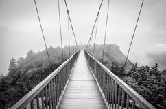 Grandfather Mountain Mile High Swinging Bridge NC Royalty Free Stock Photography