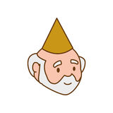 Grandfather party hat old person man male icon. Vector graphic Royalty Free Stock Images