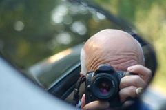 Grandfather photographer royalty free stock image