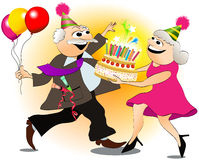 Grandfather's birthday Royalty Free Stock Images