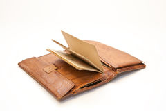 Grandfather's old wallet. Old grandfather's wallet with old documents Royalty Free Stock Photography
