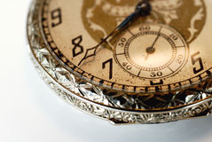 Grandfather's Pocket Watch. An ornate pocket watch that belonged to my Grandfather Royalty Free Stock Images
