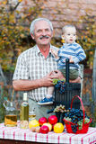 Grandfather smiling Royalty Free Stock Photography