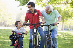 Grandfather Son And Grandson Royalty Free Stock Images
