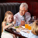 Grandfather talking Stock Photos