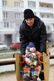 Grandfather with toddler Royalty Free Stock Images