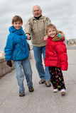 Grandfather with kids Stock Photography
