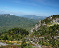 Grandfather view. Along the trail at Grandfather mountain in North Carolina Stock Photography