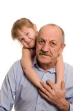 Grandfather With The Granddaughter Stock Image
