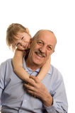 Grandfather With The Granddaughter Stock Photography