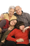Grandfparents e nipoti Fotografia Stock