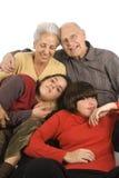 Grandfparents and grandchildren. Grandparents with their two adolescent grandchildren Stock Photography
