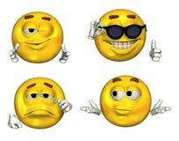 Grandi 3D Emoticons - insieme 2 Fotografie Stock Libere da Diritti
