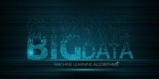 GRANDI algoritmi di apprendimento automatico di DATI Immagini Stock