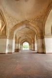 Grandi archi alla fortificazione di Sikandar Fotografie Stock