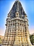 Grandi arti del tempio Jain con marmo Fotografia Stock Libera da Diritti