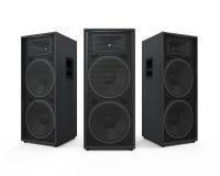 Grandi audio altoparlanti Fotografie Stock