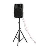 Grandi audio altoparlanti potenti isolati su fondo bianco Fotografie Stock