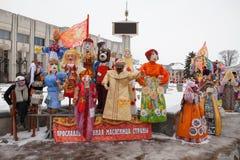 Grandi bambole per Maslenitsa Immagini Stock