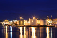 Grandi barche del rifornimento nel porto di Aberdeen il 27 gennaio 2016 Fotografia Stock Libera da Diritti