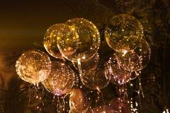 Grandi bei palloni del gel, luci dipinte e lampadine La foto ha fatto il 9 agosto 2012 Immagini Stock Libere da Diritti
