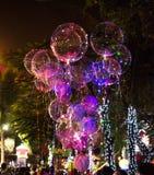 Grandi bei palloni del gel, luci dipinte e lampadine La foto ha fatto il 9 agosto 2012 Fotografia Stock Libera da Diritti