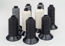 Grandi bobine industriali del filo Fotografia Stock