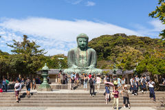 Grandi Buddha - Kamakura, Giappone Fotografie Stock
