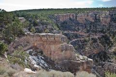 Grandi canyon delle colline boscose Fotografia Stock