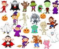 Grandi collezioni di fumetto di Halloween illustrazione vettoriale
