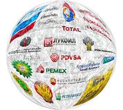Grandi compagnie petrolifere Fotografia Stock