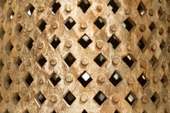 Grandi contenitori decorativi rotondi con i perni ed i fori quadrati Fotografia Stock Libera da Diritti