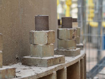 Grandi dadi di turbine - e - bulloni Fotografia Stock