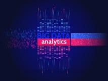 Grandi dati astratti che ordinano informazioni Analisi di informazioni illustrazione di stock