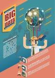 Grandi dati Infographic Immagine Stock Libera da Diritti