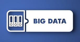 Grandi dati sul blu nello stile piano di progettazione. Fotografie Stock Libere da Diritti