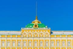 Grandi dettagli del palazzo di Cremlino nel giorno di inverno Fotografie Stock Libere da Diritti
